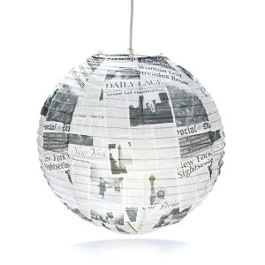 Boule lumineuse Newspaper - Alinéa - 9,99 €
