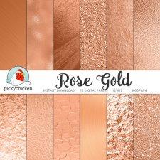Set de papier Rose Gold - PickyChiken sur Etsy - 4,25 €