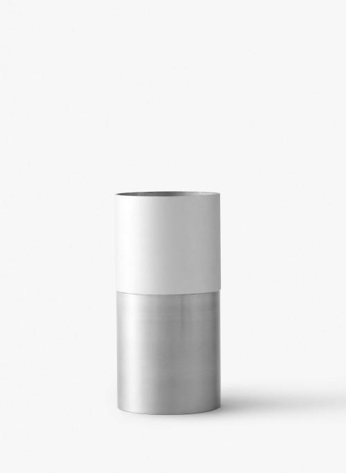 Vase TRUE COLOURS aluminium et blanc